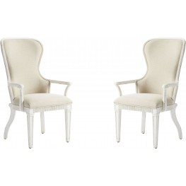 Juniper Dell 17th Century White Host Chair Set of 2