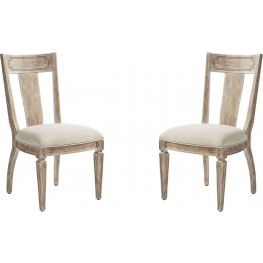 Juniper Dell English Clay Contemporary Side Chair Set of 2