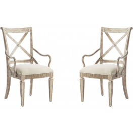 Juniper Dell English Clay Arm Chair Set of 2
