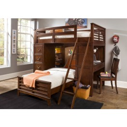 Chelsea Square Twin Loft Bed with Cork Bed