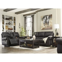 Milhaven Black Reclining Living Room Set