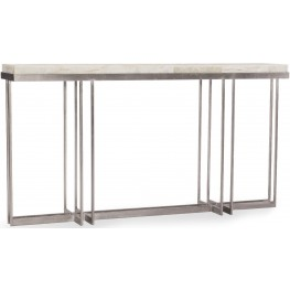 Melange White and Cream Blaire Console Table