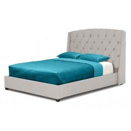 Williamsburg Beige Full Linen Bed
