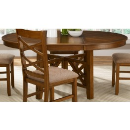Bistro Oval Extendable Pedestal Table