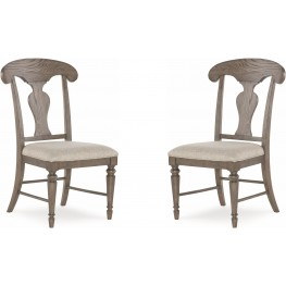 Brookhaven Vintage Linen Splat Back Side Chair Set of 2