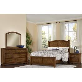 Rustic Cottage Rustic Cherry Panel Bedroom Set