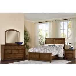 Rustic Cottage Rustic Cherry Sleigh Bedroom Set