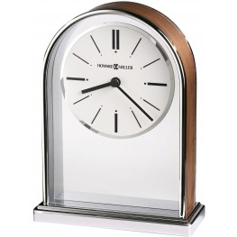 Milan Brown and Silver Table Clock