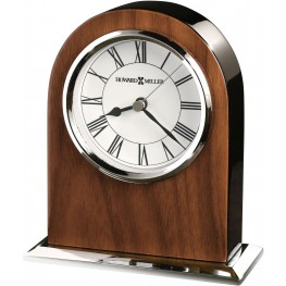Palermo Brown and Silver Table Clock