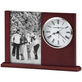 Portrait Caddy II Red and Silver Table Clock