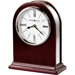 Peyton Red and Silver Table Clock