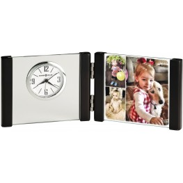 Lawson White and Black Table Clock