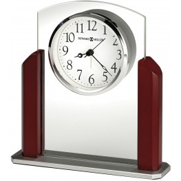 Landon Red and White Table Clock
