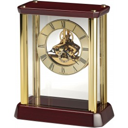Kingston Red and Gold Table Clock