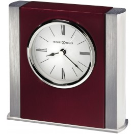 Manheim Red and Silver Table Clock