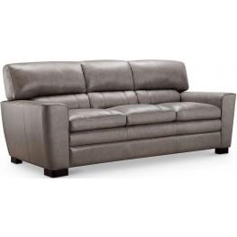 Cambria Wilson Gray Leather Sofa