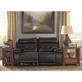 Graford Walnut Power Reclining Loveseat With Adjustable Headrest