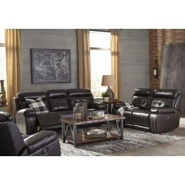 Graford Walnut Power Reclining With Adjustable Headrest Living Room Set