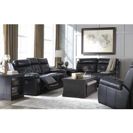Graford Navy Power Reclining With Adjustable Headrest Living Room Set