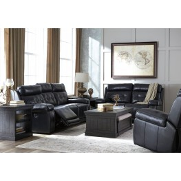 Graford Navy Power Reclining With Adjustable Headrest Living Room Set Part 63