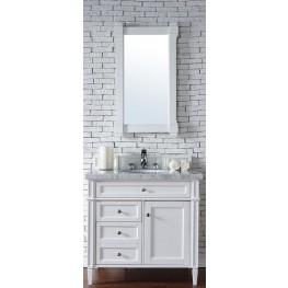 "Brittany 36"" Cottage White Single 4CM Top Vanity Set"