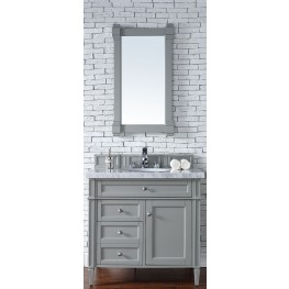"Brittany 36"" Urban Gray Single 4CM Top Vanity Set"