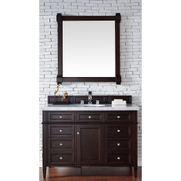 "Brittany 48"" Burnished Mahogany Single 4CM Top Vanity Set"