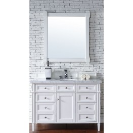 "Brittany 48"" Cottage White Single 4CM Top Vanity Set"