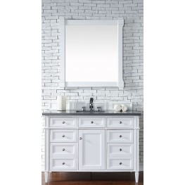 "Brittany 48"" Cottage White Single 3CM Top Vanity Set"