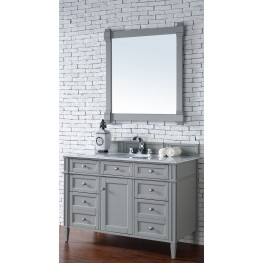 "Brittany 48"" Urban Gray Single 2CM Top Vanity Set"