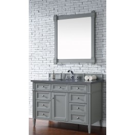 "Brittany 48"" Urban Gray Single Vanity With 3Cm Shadow Gray Quartz Top"