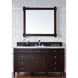 "Brittany 60"" Burnished Mahogany Single 4CM Top Vanity Set"