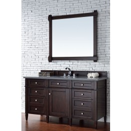 "Brittany 60"" Burnished Mahogany Single 3CM Top Vanity Set"