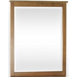 School House Pecan Mirror