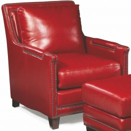 Prescott Supple Red Leather Chair