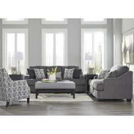 Gilmer Gunmetal Living Room Set