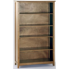 School House Pecan Vertical Bookcase