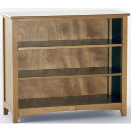 School House Pecan Short Vertical Bookcase