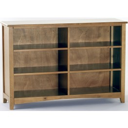 School House Pecan Horizontal Bookcase