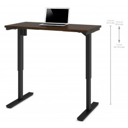"48"" Chocolate Electric Height Adjustable Table"