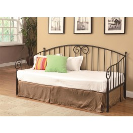 300099-1138A Casual Dark Bronze Metal Daybed