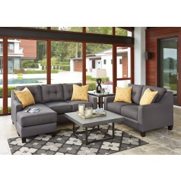 Aldie Nuvella Gray Living Room Set