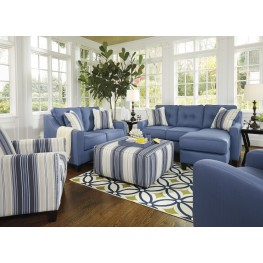 Aldie Nuvella Blue Living Room Set