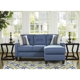 Aldie Nuvella Blue Sofa Chaise