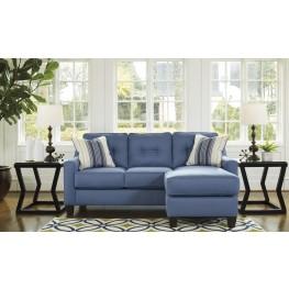 Aldie Nuvella Blue Queen Sofa Chaise Sleeper