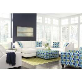 Aldie Nuvella White Living Room Set