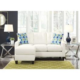 Aldie Nuvella White Sofa Chaise