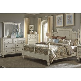 High Country White Poster Bedroom Set