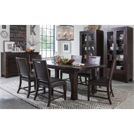 Pine Hill Warm Rustic Pine Extendable Rectangular Dining Room Set