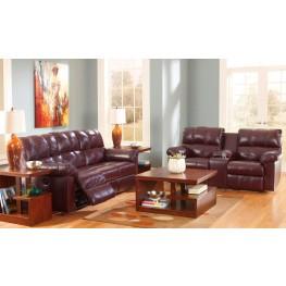 Kennard Burgundy Power Living Room Set